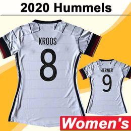 2020 Draxler Mulheres Futebol Jerseys Hummels Kroos Muller Casa Branco Camisa de Futebol Futebol Nacional Werner Barcoeng Manga Curta Senhora Uniformes em Promoção