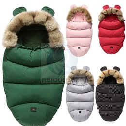 infant sleeping patterns 2021 - Winter Sleeping Bags Envelope Newborn Baby Stroller Pad Sleepsack Hooded With Cute Ear Thick Warm Infant Footmuff Wheelc