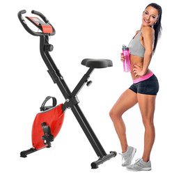 US Stock, Fast Ship Exercise Bike with 8-Level Adjustable Resistance, Adjustable Seat, LCD Monitor, Perfect for Home Use MS192237AAR on Sale