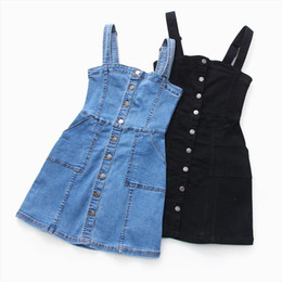 ingrosso stili mini jeans-Denim Dress Estate Slim Sweet Style Style Strap Jeans Dress Delle Donne Preppy Sospensole Denim Sundress Mini mini