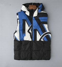 Wholesale vest floral men for sale - Group buy new men DOWN winter down jacket North Polartec vest Male Sports Hooded Jackets Bomber Collar MONC winter down vest Sleeveless Vests