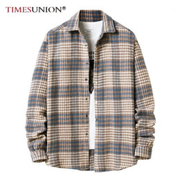 Wholesale shirt flannel resale online - Plaid Shirt American Flannel Shirt Fall Fashion Long Sleeve Shirts Men European Size S XL1