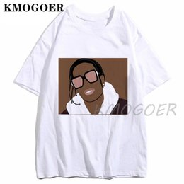 asap rocky shirt 2020 - New Arrival Asap Rocky Men T Shirt Music Hip Hop Mens Street Wear Rap Cotton T Shirt Plus Size Cool Gift Personality jll
