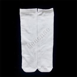Wholesale thermal socks for men for sale – custom Sublimation White Socks Thermal Transfer Plain Blank Double sided Printed Stockings cm cm cm cm cm for Women Men Socks F102305