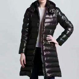 Womens Down Jacket Parkas Fashion Women Winter Jacket Fur Coat Doudoune Femme Black Winter Coat Outerwear With Hood on Sale