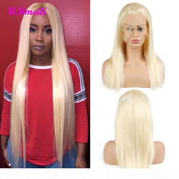 blonde full lace human hair wigs Canada - 613 Honey Blonde Full Lace Human Hair Wigs Remy 150% Density Brazilian Straight Hair 13x4 Lace Frontal Wigs 613 Blonde Hair Wig