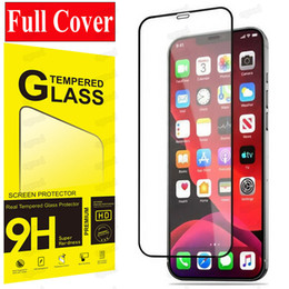 Wholesale mirror screen protector for samsung resale online - Full Cover Tempered Glass for iPhone Pro Max Protective Screen Protector for iPhone mini SE XR Samsung A51 Pixel LG with retail pack