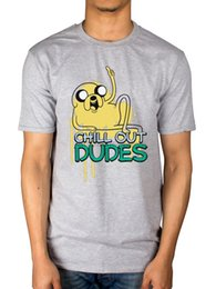 Oficial Mens Adventure Time Chill Out Dudes Camiseta Finn Jake Ice Rei