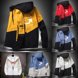 Wholesale fashion menswear jacket for sale - Group buy TBH6Q men s Jacket men s in spring and trench casual panel autumn fashion hooded jacket coat Plus sized menswear coat Stylish Windbreake