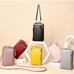 Wholesale uses mobile phones resale online - Korean version Women Colorful Cellphone Bag Fashion Daily Use Card Holder Small Summer Shoulder Bag For Women Mobile Phone
