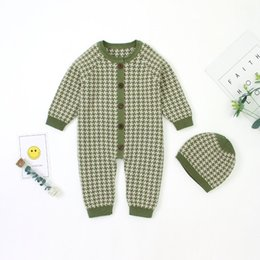 Wholesale knit sets resale online - 2019 Infant Baby Rompers Autumn Clothes Newborn Baby Boy Girl Knitted Sweater Jumpsuit Spring Kid Toddler Outerwear Set sqcFvJ pingtoy