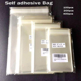 plastic designer bags Canada - Clear Self-adhesive Cello Cellophane Bag Self Sealing Small Plastic Bags for Candy Packing Resealable Cookie Packaging Bag Pouch