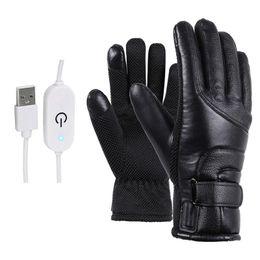 venda por atacado Luvas Inverno elétrico aquecido Windproof Ciclismo Luvas Esqui Quente Alimentado por USB Para Touchscreen tempo frio Windproof Anti Slip
