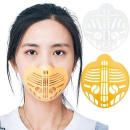 nose breathing NZ - Cool Lipstick For Stand Breathable DHF87 Nose Increase Protection Mask 3D Breathing Bracket Breathing Smoothly Space Tools Masks Protec Xkbt