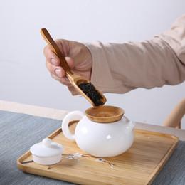 Cuchara de té de bambú natural Salsa de miel Suger Suger Coffee Scoop Tea utensilio de hojas de té Cucharada Accesorios de cocina Vajilla GWF4085 en venta