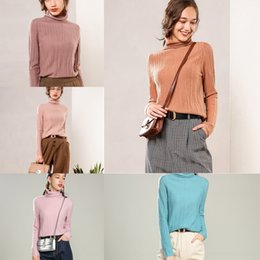 Wholesale women s pure cashmere sweater for sale - Group buy St7f1 Pile neck women s pure Pullover cashmere sweatercashmere Pullover slim fit short autumn and collar new knitted bottoming sweater high w