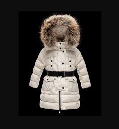 Опт 2021 Детская девушка / Женщины Мальчик Куртка Парки Пальто с капюшоном для девочек Теплые толстые Куртки Детские Капюшоны Настоящие 100% Мех Зимние Пальто