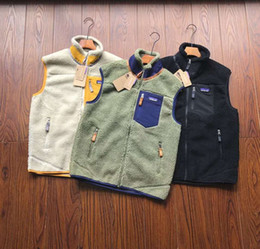Wholesale vests resale online - PATAGONIA Thick warm Classic Retro X autumn winter couple models lamb cashmere fleece vest for men women