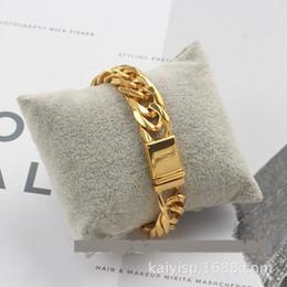 Wholesale polish food for sale – custom Double woven stainless steel Socket bracelet bracelet braceletsix side hand chain polished gold fashion men s square socket denim chain kl3