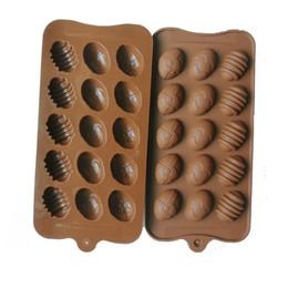 venda por atacado Silicone 15 buracos ovo em forma de molde de chocolate diy mini ovos de páscoa cozinha decora ferramentas handmade pirulito tofoes doces molde g11302