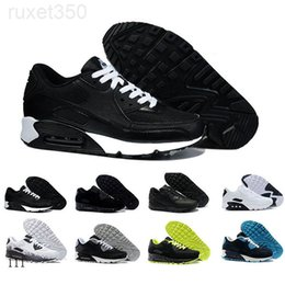 2019 New 90 Trainer Shoes Classic Men Women Cheap 90 Sports Shoes Black Red White Air Cushion Designer Air90 Sneakers XOE8K