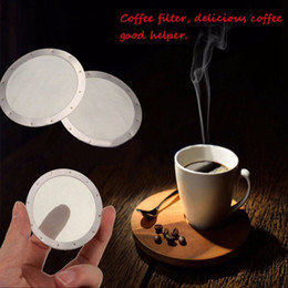 Filtros de café Malha Filtros de imprensa de café francês Filtros de chá de substituição Tela de filtro de malha de aço inoxidável reutilizável em Promoção