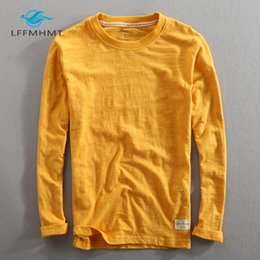 Wholesale white cotton shirt china for sale - Group buy Men Spring Autumn Fashion China Style Vintage Solid Color Bamboo Cotton Long Sleeve O neck T shirt Male Casual Thin Tee Tshirts