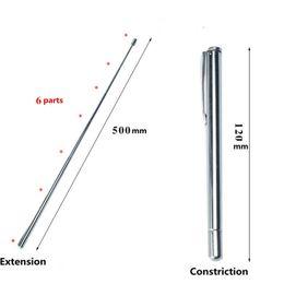 Großhandel 2 stücke Edelstahl einziehbare Optometrie-Baton-Sight-Stick-Erweiterungsstift-Stift-Stil mit sechs Teile-Gläsern Optometrie Freeshipping