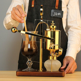 New Belgian Coffee Maker Home Belgium Kettle Siphon Coffee Machine Siphon Automatic Cafe Maker for Cafetera Vaccuum Pot