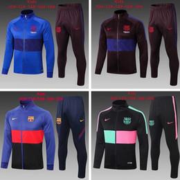 20 21 kid barca conferisce al rivestimento de foot Barcellona Tuta real madrid giacca 2020 2021 ragazzo tuta calcio calcio tuta da jogging in Offerta