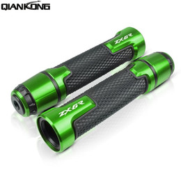 Discount handle bar grips for motorcycle Motorcycle Handle Handlebar Hand Bar Grip hand grips For ZX6R 2000-2014 2001 2002 2003 2004 2005 2006 2007 2008 ZX-6R