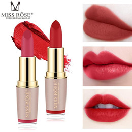 rose bullet wholesale NZ - Lip gloss set lipstick set makeup bullets waterproof matte MISS ROSE lipstick cosmetics sale products nutrition lasting sexy