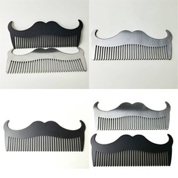 Stainless Steel Beard Brush Pure Color Goat Horn Shape Whisker Combs Male Household Men Cleaning Tools Comb Special 4 5qd N2 on Sale