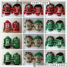 Wholesale Stars Hockey Hoodie Sweatshirt 9 Mike Modano 14 Jamie Seguin Benn Calgary Flames 23 Sean Monahan Mark Giordano Johnny Gaudreau Hoodies
