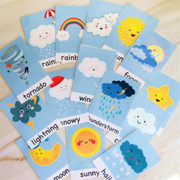 Pcs Set Baby Learning Word Cards Game Weather Waterproof English Flash Cards Early Education Teacher Classroom Teaching Aid on Sale