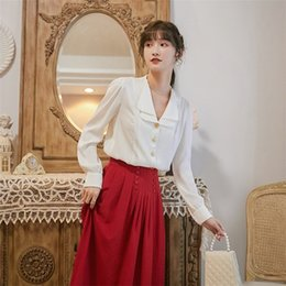 Wholesale high fashion suits for women resale online - QULEg Autumn new sleeve lapel Top Coatage reducing women women s top high waist pleated skirt fashion two piece aTgg0 for long suit