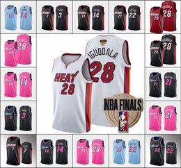 MiamiHeatMen Jimmy Butler Dwyane Wade Andre Iguodala Tyler HerroNBA 2020 Finals Statement Basketball Jersey
