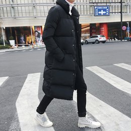 Mens Slim Fit Long Down Jacket Coat New Male Casual Winter Down Parka Men Thick Jacket Overcoat fz1970