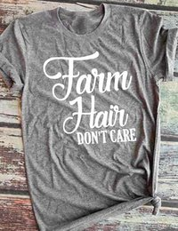 tee shirts art Canada - Farm Hair Dont Care T Shirt Realism Sarcasm Style Women Funny Slogan Tops Cotton Vintage Creative Art Party Tees Tshirt J105