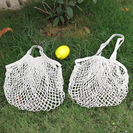 Wholesale breasts cup sizes resale online - Shopping Grocery Bag Reusable Shopper Tote Fishing Net Large Size Mesh Net Woven Cotton Bags Portable Shopping Bags Home Storage Bag GWE3723