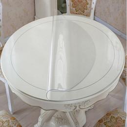 PVC impermeável Toalha de mesa redonda Toalha de mesa de mesa de mesa transparente padrão de cozinha de óleo de toalha de vidro macio pano 1.0mm t200707 em Promoção