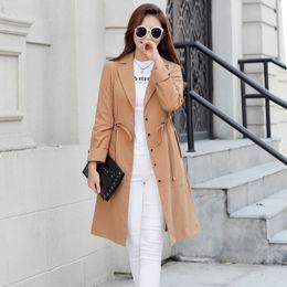 Wholesale women fur trench short coat resale online - 2020 Spring Autumn New Fashion Streetwear Double Breasted Overcoats Casual Women s Windbreaker Lantern Sleeve Women Trench Coats