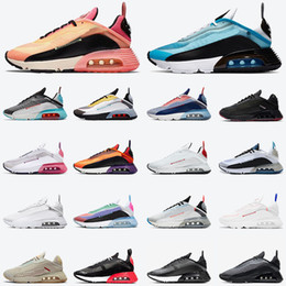 Fashion NIK 2090 Running shoes for women Mens 2020 Pure Platinum airmaxairmax White Black Blue USA designer Trainers Sneakers on Sale