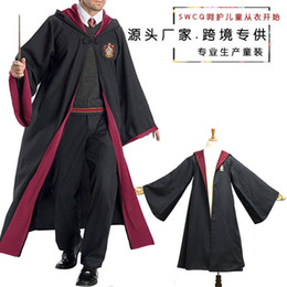 Wholesale harry potter robes resale online - school Authentic Harry Potter dress magic uniform Cape cosplay costume wizard robe