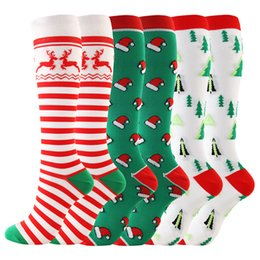 Wholesale free people clothing for sale - Group buy 2020 Christmas Adults Long Socks Cartoon Snowman Striped Printed Women Men Fashion Xams Socking Casual Sports Winter Home Clothing E101601
