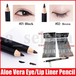 M Eye Makeup Pen Eyeliner Eyebrow Liner Pencil Black   Brown EYE   LIP Liner Pencil Aloe & Vitamin E1.6g on Sale