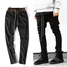ingrosso mens di cerniera-GMANCL Hip Hop Uomo Ankle Zipper Pantaloni Classic Harajuku Drop Crotch Pantaloni Punk Pants Cotton Rap Mens Nero Joggers1