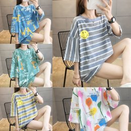 Wholesale cotton jin for sale – custom YeCmy Jin super large size women s loose short sleeved T shirt sister plus plus fat big fat Baby summer wear mm clothes maternity clothes