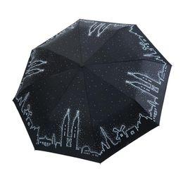Wholesale twin towers online – design Yada Design Fairy Tale Folding Twin Towers Pattern Umbrella Rain Women Uv High Quality Umbrella For Womens Brand Umbrellas Ys411 bbyMGa