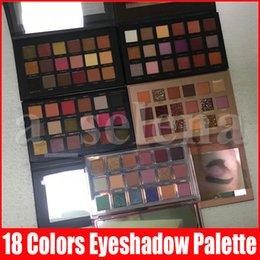 Vente en gros Nouvelle palette de maquillage pour les yeux de beauté 18 couleurs Palette à paupières Matte Shimmer Rose Shadow Shadow Paltes 5 Styles